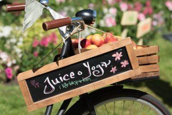 Juice och Yoga erbjöd fräscha juicer