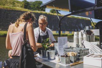 Kaffeluckan serverade kaffesugna festivaldeltagare hela festivalen