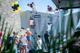 Bildepåns klättervägg var en väldigt uppskattad del av festivalen