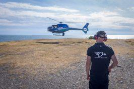 Under festivalen kunde besökarna åka helikoptertur